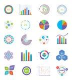 Vectorconcept voor infographics, grafieken Stock Foto
