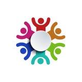 Vectorconceptengroep mensen Royalty-vrije Stock Foto