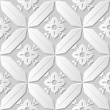 Vectordamast naadloze 3D document achtergrond 167 van het kunstpatroon Diamond Check Cross Royalty-vrije Stock Afbeelding