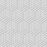 Vectordamast naadloze 3D document achtergrond 368 van het kunstpatroon Driehoeks Spiraalvormige Lijn Stock Foto