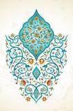 Vectordecor, arabesque in Oostelijke stijl vector illustratie