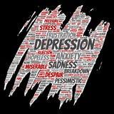 Vectordepressie of geestelijke emotionele wanorde stock illustratie