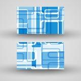 Vectordie zaken-kaart voor uw ontwerp wordt geplaatst Stock Afbeelding