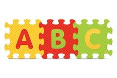 VectordieABC met alfabetraadsel wordt geschreven stock illustratie