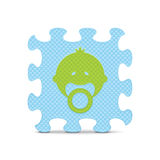 Vectordiebabyteken met alfabetraadsel wordt gemaakt Royalty-vrije Stock Afbeelding