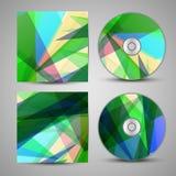 VectordieCD-dekking voor uw ontwerp wordt geplaatst Stock Foto's