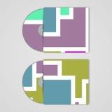VectordieCD-dekking voor uw ontwerp wordt geplaatst Royalty-vrije Stock Foto