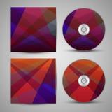 VectordieCD-dekking voor uw ontwerp wordt geplaatst Royalty-vrije Stock Foto's