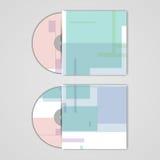 VectordieCD-dekking voor uw ontwerp wordt geplaatst Royalty-vrije Stock Afbeeldingen