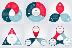 Vectordiecirkelelementen voor infographic worden geplaatst Royalty-vrije Stock Afbeelding