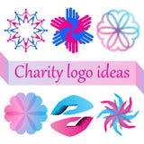 Vectordieembleem voor liefdadigheid, gezondheid, vrijwillige of zonder winstbejag organisatie wordt geplaatst royalty-vrije stock fotografie