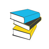 Vectordieillustratieboeken in vlakke ontwerpstijl worden geplaatst Stock Illustratie