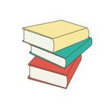 Vectordieillustratieboeken in vlakke ontwerpstijl worden geplaatst Royalty-vrije Stock Afbeelding