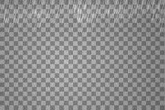 Vectordieillustratieregen op een transparante achtergrond wordt geïsoleerd stock illustratie