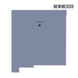 Vectordiekaartstaat van New Mexico op witte achtergrond wordt geïsoleerd vector illustratie