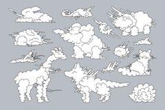 Vectordier gestalte gegeven wolkenreeks Vector Illustratie