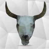 Vectordieschedel van driehoeken wordt gemaakt - vectorillustratie Stock Afbeeldingen