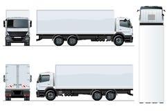 Vectordievrachtwagenmalplaatje op witte achtergrond wordt geïsoleerd royalty-vrije illustratie