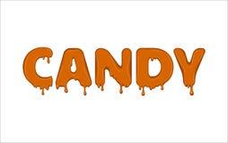 Vectordiewoord van suikergoed wordt gemaakt Stock Fotografie