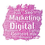 Vectordigital marketing seo traffic paint brush Royalty Free Stock Image