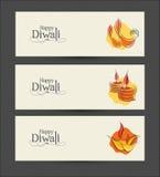 Vectordiwali-Bannerontwerp royalty-vrije stock afbeelding