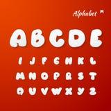 Vectordocument Grafische Alfabetreeks Stock Foto's