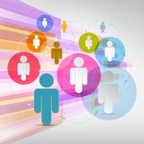 Vectordocument Mensen in Cirkels Stock Afbeeldingen