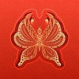 Vectordocument vlinderillustratie Stock Afbeelding