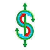 Vectordollarteken Royalty-vrije Stock Foto
