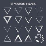 16 vectordriehoekskader Royalty-vrije Stock Afbeeldingen
