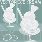 Vectored ice cream Stock Image