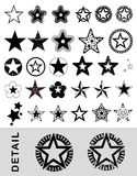 Vectored stars Stock Images