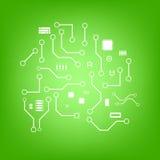Vectorelektronikaachtergrond Stock Afbeeldingen