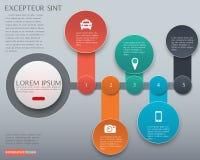 Vectorelement voor Infographic-het rood van het Ontwerpthema, Presentatie en Stock Afbeelding