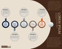 Vectorelement voor Infographic-het rood van het Ontwerpthema, Presentatie en grafiek, Abstracte achtergrond Royalty-vrije Stock Afbeeldingen
