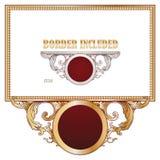 Vectorelementen voor het ontwerp van diploma, reclame en andere kaarten Stock Foto