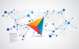 Vectorelementen voor infographic Het malplaatje van de ontwerpbanner royalty-vrije illustratie