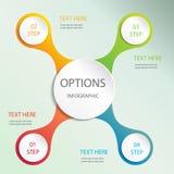 Vectorelementen voor infographic Malplaatje voor diagram, grafiek, presentatie en grafiek Bedrijfs concept abstracte achtergrond Royalty-vrije Stock Foto's