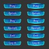 Vectorelementen voor spelontwerp (GUI) royalty-vrije illustratie