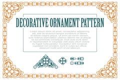 Vectorelementenbloemen voor ontwerp, die tot grenzen, kaders en achtergronden leiden Drie inbegrepen borstels Royalty-vrije Stock Afbeelding