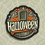 Vectorembleem op Halloween-vakantiethema Stock Fotografie
