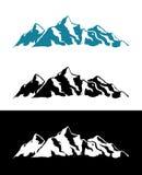 Vectorembleem van de Bergen van Alpen stock illustratie