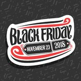 Vectorembleem voor Black Friday vector illustratie
