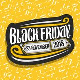 Vectorembleem voor Black Friday royalty-vrije illustratie
