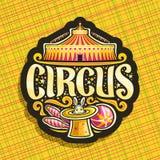 Vectorembleem voor Circus Royalty-vrije Stock Foto's