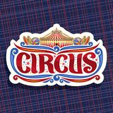 Vectorembleem voor Circus stock illustratie