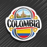 Vectorembleem voor Colombia vector illustratie