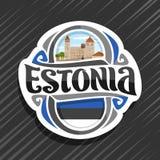Vectorembleem voor Estland Stock Afbeelding