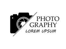 Vectorembleem voor fotograaf De fotografiestudio van het embleemmalplaatje, fotograaf, foto stock foto