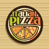 Vectorembleem voor Italiaanse Pizza royalty-vrije illustratie
